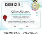 white official certificate with ... | Shutterstock .eps vector #796993261