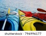 Kayaking On The Lake Concept...