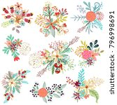 collection of vector florals... | Shutterstock .eps vector #796998691