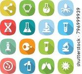 flat vector icon set   molecule ... | Shutterstock .eps vector #796999939