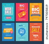 collection of sale and discount ... | Shutterstock .eps vector #797005819