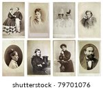 group of old photographs of the ... | Shutterstock . vector #79701076