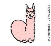 vector illustration of cute... | Shutterstock .eps vector #797012389