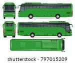 green bus vector mock up for... | Shutterstock .eps vector #797015209