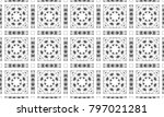 black and white mosaic seamless ... | Shutterstock . vector #797021281