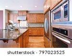 bright inviting kitchen... | Shutterstock . vector #797023525