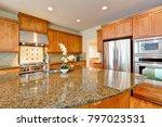 bright inviting kitchen... | Shutterstock . vector #797023531