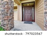 covered entrance porch boasts... | Shutterstock . vector #797023567