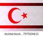 northern cyprus flag vector... | Shutterstock .eps vector #797024611