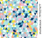 triangle seamless background... | Shutterstock .eps vector #797027677
