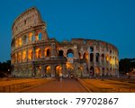 the ancient colosseum in rome ... | Shutterstock . vector #79702867