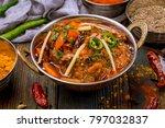 gosht masala indian food in a... | Shutterstock . vector #797032837