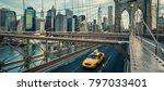 famous brooklyn bridge in nyc ... | Shutterstock . vector #797033401