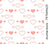 valentines day hearts seamless... | Shutterstock .eps vector #797049625