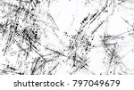 grainy black and white distress ... | Shutterstock .eps vector #797049679