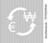 currency exchange sign. euro... | Shutterstock .eps vector #797054944