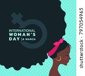international women's day with... | Shutterstock .eps vector #797054965