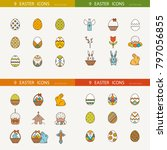 vector collection of cute... | Shutterstock .eps vector #797056855