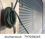 nylon rope at the door at the... | Shutterstock . vector #797058265