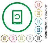 Mobile Redial Flat Color Icons...