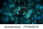 blue abstract background ... | Shutterstock . vector #797065075