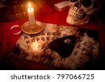 a witches den  fortune teller... | Shutterstock . vector #797066725