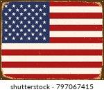 vintage metal sign   united... | Shutterstock .eps vector #797067415