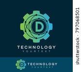technology initial letter d... | Shutterstock .eps vector #797068501