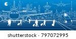 airport illustration.... | Shutterstock .eps vector #797072995