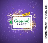 carnival concept banner with on ... | Shutterstock .eps vector #797082181