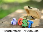 alphabet forming gst word on a... | Shutterstock . vector #797082385