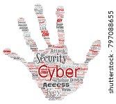 vector conceptual cyber... | Shutterstock .eps vector #797088655