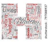 vector conceptual healthy... | Shutterstock .eps vector #797088937
