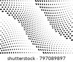 abstract halftone wave dotted...   Shutterstock .eps vector #797089897