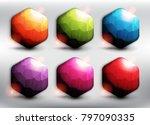 abstract hexagonal vector web... | Shutterstock .eps vector #797090335