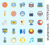 icons set about digital... | Shutterstock .eps vector #797091355