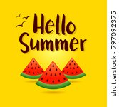 vector illustration of summer... | Shutterstock .eps vector #797092375