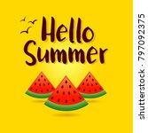 vector illustration of summer... | Shutterstock .eps vector #797092375