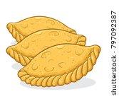 vector stock of kue pastel... | Shutterstock .eps vector #797092387