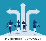 choice way. business team with... | Shutterstock .eps vector #797093134