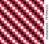 striped checkerboard zigzag... | Shutterstock . vector #797096131