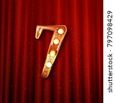 celebrating of 7 years...   Shutterstock .eps vector #797098429