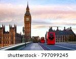 london morning traffic scene... | Shutterstock . vector #797099245