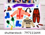 photo of colorful hand drawing  ...   Shutterstock . vector #797111644