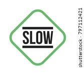 slow  sign  down   Shutterstock .eps vector #797112421
