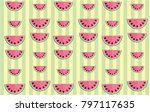 cute stripey wallpaper with... | Shutterstock .eps vector #797117635