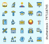 icons set about school and... | Shutterstock .eps vector #797118745