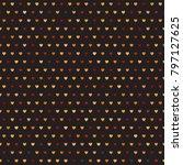 heart pattern. seamless vector... | Shutterstock .eps vector #797127625
