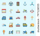 icons set about transportation. ... | Shutterstock .eps vector #797128555