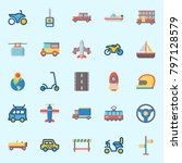 icons set about transportation. ... | Shutterstock .eps vector #797128579